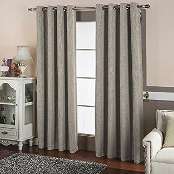 Amazon.com: Best Dreamcity Faux Linen Blackout Curtains for ...