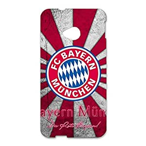 3D FC Bayern Munchen Retro Classical Plastic Phone Case for Htc One M7 FC Bayern Logo
