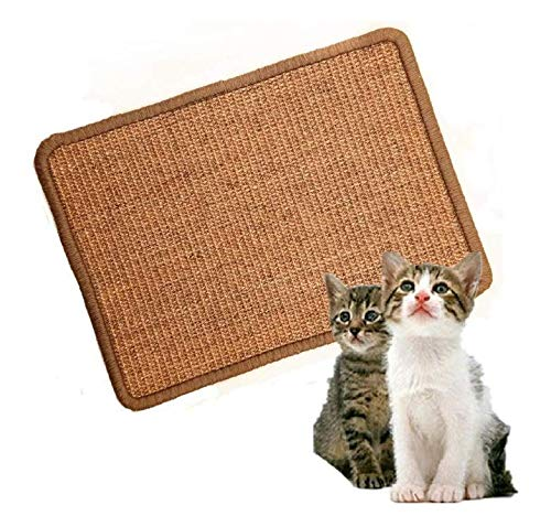 ShopTrend Cat Scratching Mat,Natural Sisal Cat Mat,Protection Play Scratcher Pad