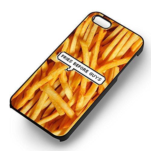 Fries Before Guys pour Coque Iphone 6 et Coque Iphone 6s Case (Noir Boîtier en plastique dur) I7Q7KM