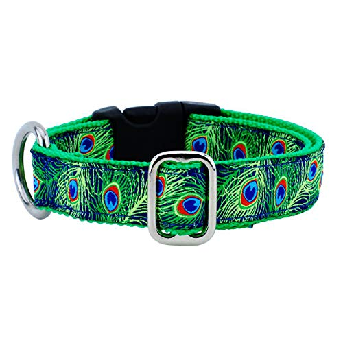 2 Hounds Design Essential Dog Collar. Fun Patterns. Adjustable & Made in USA (Paradise Navy, -