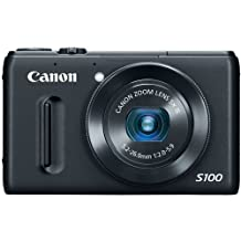 Canon PowerShot S100 12.1 MP Digital Camera with 5x Wide Angle Optical Image Stabilized Zoom (Black)