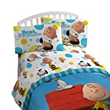 Jay Franco Peanuts Sunny Day Twin 3 Piece Sheet Set