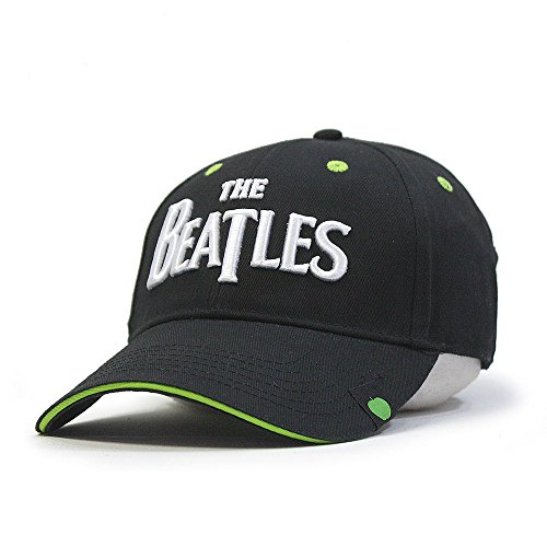 The Beatles Classic Adjustable Baseball Cap Drop T Logo Sgt Pepper Drum Abbey Road (Drop T Green/Black)