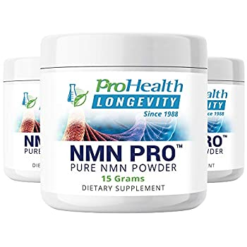 Image of Health and Household ProHealth NMN Powder 3-Pack (15 Grams per jar) Nicotinamide Mononucleotide | NAD+ Precursor | Supports Anti-Aging, Longevity and Energy | Non-GMO