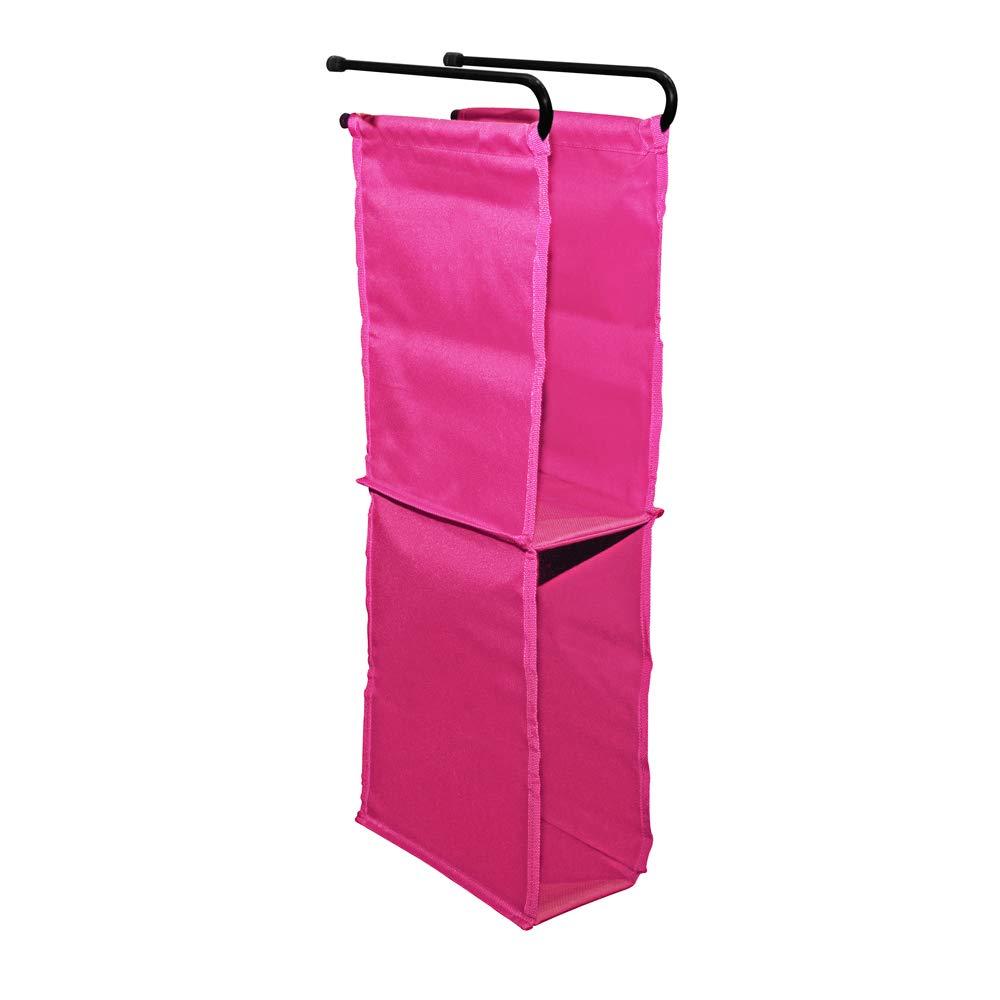 LockerMate Hanging Fabric Locker Shelf, Durable and Removable, Pink