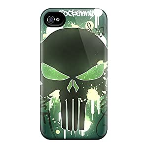 Awesome BEYaUlh8837CJWKV DaMMeke Defender Tpu Hard Case Cover For Iphone 4/4s- Cool Skull 2