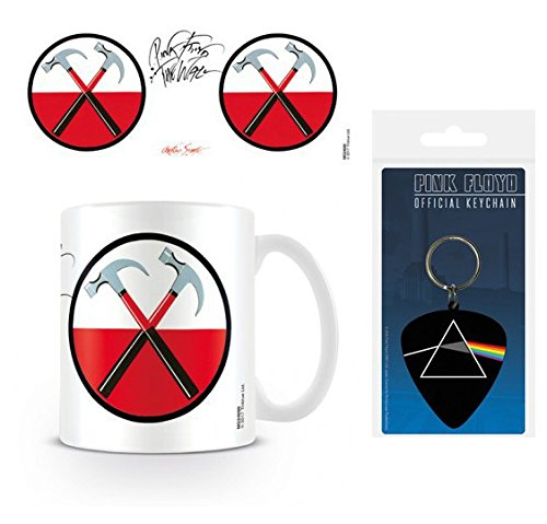Pink Coffee Photo - Set: Pink Floyd, The Wall, Hammers Photo Coffee Mug (4x3 inches) And 1 Pink Floyd, Keychain Keyring For Fans (2x2 inches)