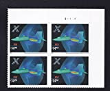 X-Planes 2006 $14.40 Express Mail Plate Block of Four Hologram Stamps Scott 4019 by USPS
