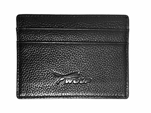Wolf Ford  Black    Slim Genuine Leather Id Wallet   Credit Card Holder Wallet Sold Only By Dealstores123