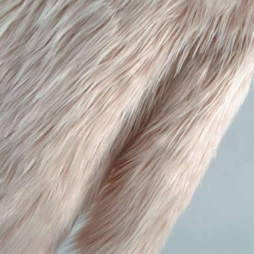 Caldo Elegante Lunga Pelliccia Monocromo Manica Style Lanoso Accogliente Ragazze Donna Alta Festa Party Qualità Con Di Cappuccio Rosa Moda Invernali Giacche Transizione Giacca OI4Pwqxq