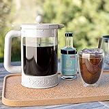 Bodum Bean Cold Brew Coffee Maker Set, 1.5 L/51 oz, White