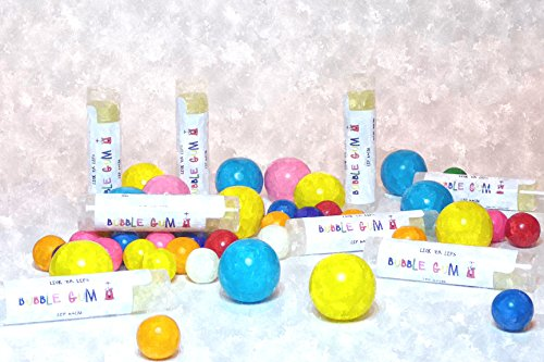 Bubble Gum Lip Balm by Lick 'er Lips, Moisturizing, Beeswax Lip Care - .15 oz tube