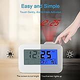 USCVIS Projection Alarm Clock, 4'' Digital Alarm