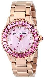 Betsey Johnson Women's BJ00247-16 Analog Display Quartz Rose Gold Watch