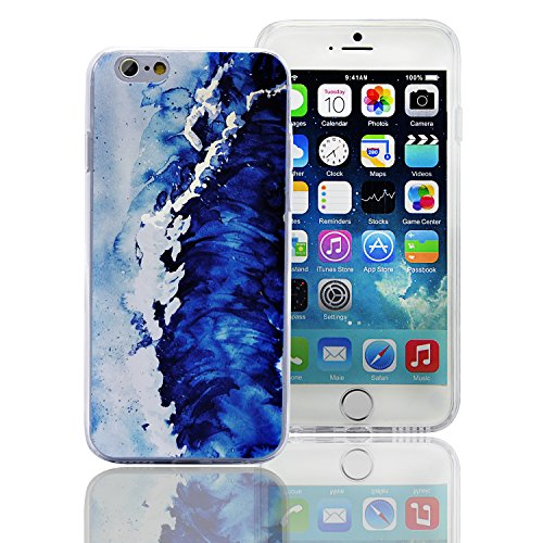 Carcasa iPhone 7 4.7 Funda Sunroyal ® Flexible Bumper TPU Funda Ultra Slim Suave Gel Parachoques Silicona [Anti-Scratch] Resistente a los Arañazos Protectora Caja del Teléfono para iPhone 7 4.7 -Dis A-17