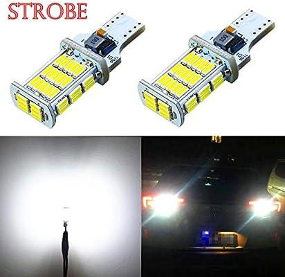 2X WHITE REVERSE CANBUS BULBS 22 SMD 194 921 T15 W16W LED CAR BRAKE STOP LIGHT