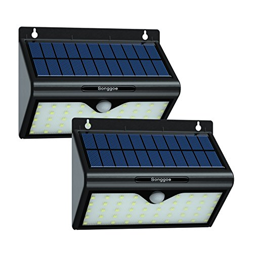 Songgoe Solar Lights Outdoor Montion Sensor Wall Light 46 LED Waterproof Security Lighting for Garden, Patio, Driveway ,Garage 2 Pack by Songgoe