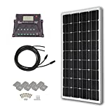 HQST 100 Watt 12 Volt Monocrystalline Solar Panel Kit with 10A PWM LCD Display Charge Controller Review