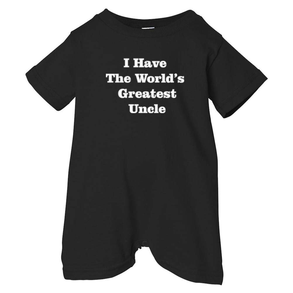 Unisex Baby I Have The Worlds Greatest Uncle T-Shirt Romper Black, 24 Months So Relative