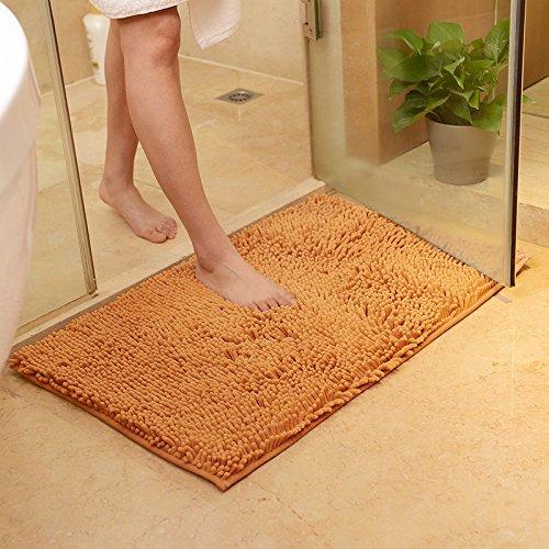 40cm x 60cm Anti-Slip Soft Floor Rug Carpet Bathroom Bedroom Bath Shower Mat (White) - 1