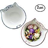 Ceramic Cereal Bowl Set - 22 Oz Childrens Porcelain Bowl,Microwavable Bowl For Cereal, Soup, or Pasta,Set of 2,Blue and Pink By BANFANG