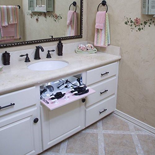 Vanity Valet Secret Hidden Curling Iron, Flat Iron, Hair Dryer Holder (VVS+)