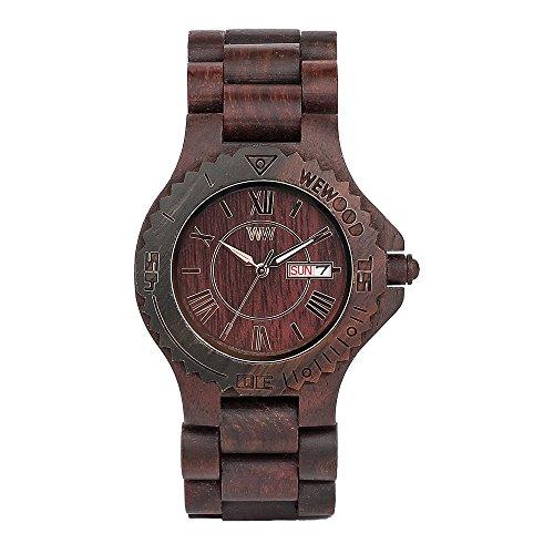Wewood Men's Roman Wood Wooden Watch (Chocolate Brown)