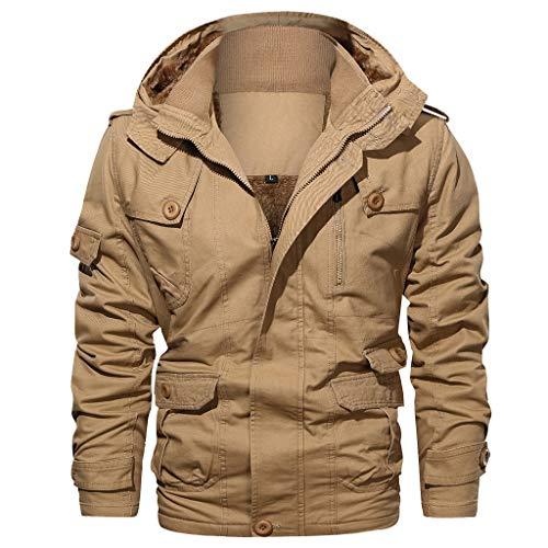 [해외]Men`s Coat HuiKai Simple Pure Color Zipper Stand Collar Breathable Fashion Jacket Outwear Tops / Men`s Coat HuiKai Simple Pure Color Zipper Stand Collar Breathable Fashion Jacket Outwear Tops Khaki