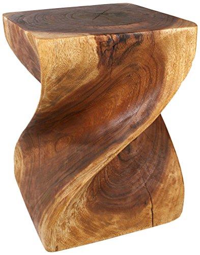 Strata Furniture Big Twist Stool, Walnut by Strata Furniture
