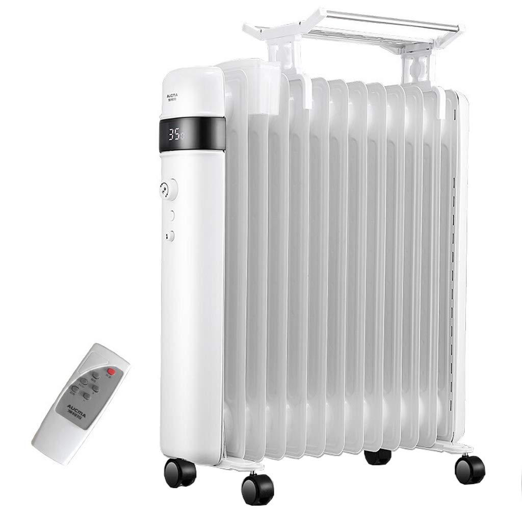 Hogar radiador de Aceite 2.2kw 13 Fin - Calentador eléctrico portátil - 3 configuraciones de energía, Temperatura Ajustable, Corte de Seguridad térmica: ...