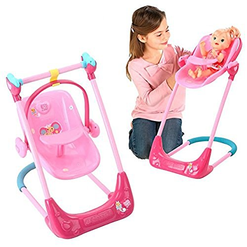 Doll Swing (Baby Alive Swing, High Chair and Car Seat 3-in-1 Combo)