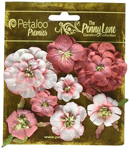 Penny Lane Mixed Blossoms 8/Pkg-Antique Red