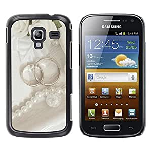 LECELL -- Funda protectora / Cubierta / Piel For Samsung Galaxy Ace 2 I8160 Ace II X S7560M -- Couple Ring --