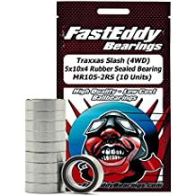 Traxxas Slash (4WD) 5x10x4 Rubber Sealed Ball Bearings for RC Cars MR105-2RS (10 Units)