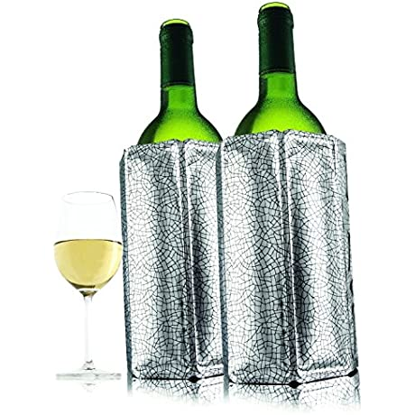 Vacu Vin Active Wine Cooler Silver Set Of 2
