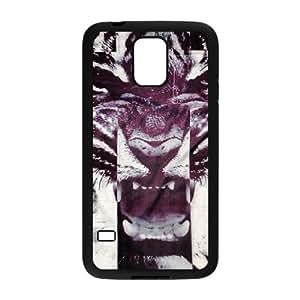 Tiger Roar Cross ZLB513958 DIY Case for SamSung Galaxy S5 I9600, SamSung Galaxy S5 I9600 Case
