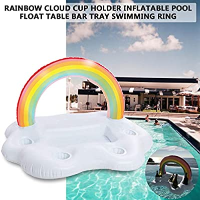 Tikafr Summer Party Bucket Rainbow Cloud - Portavasos Hinchable ...