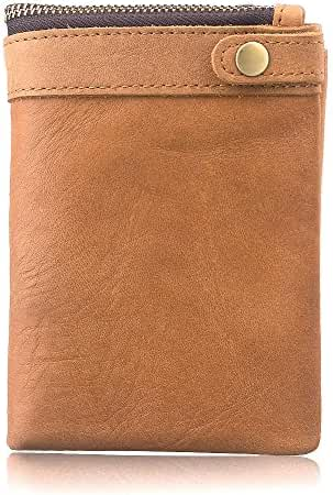 AYOUYA Genuine Leather Wallet Card Holder Bifold Wallet Men's Wallet With Large Capacity