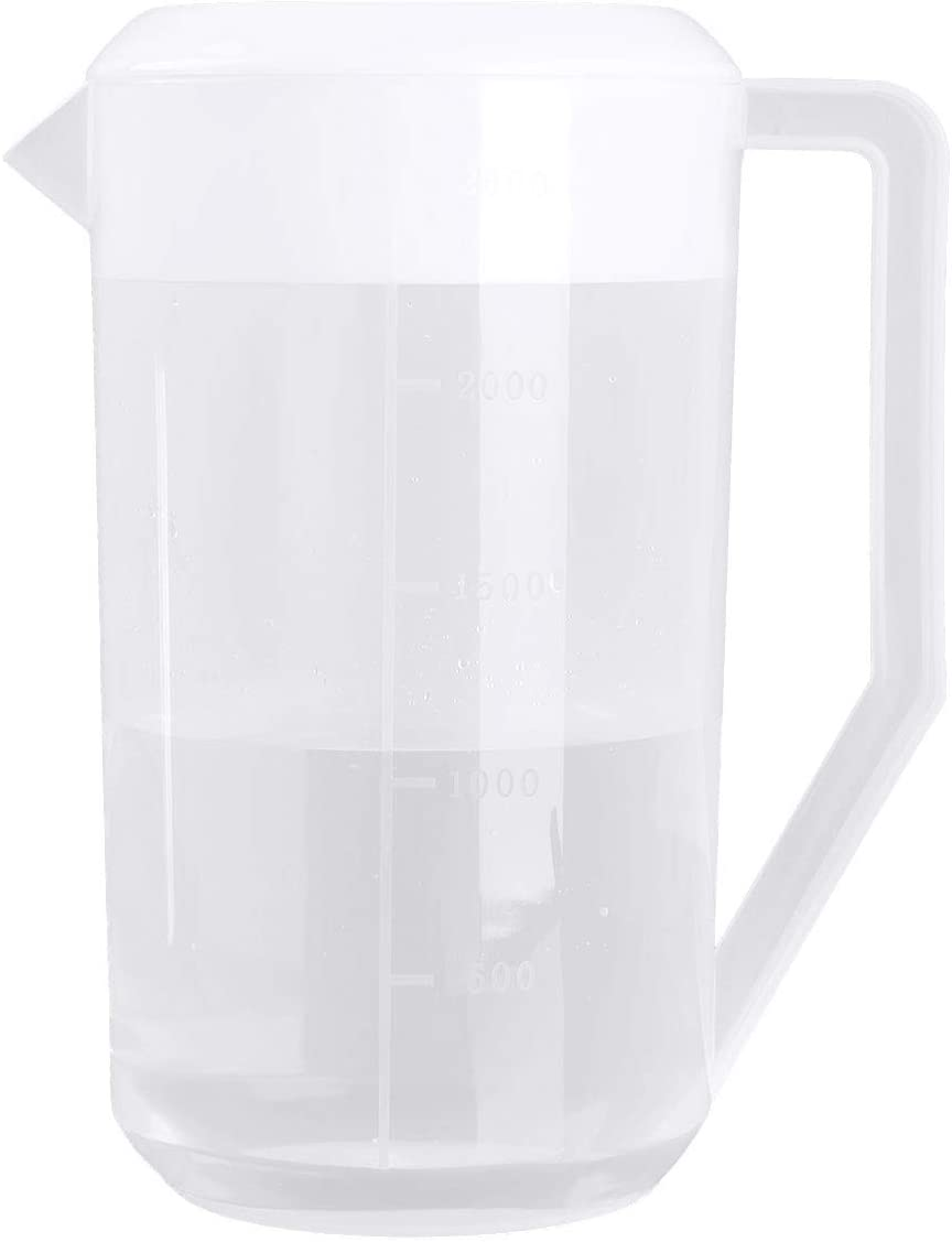 iiniim Plastic Pitcher with Lid 2500ML Large Capacity Measuring Water Pitcher Jug Rose Red One Size