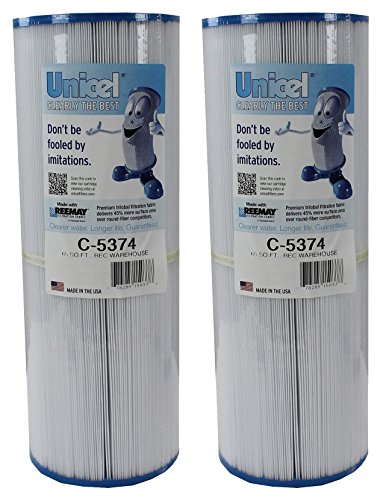 2) Unicel C-5374 Spa Replacement Cartridge Filters 65 Sq Ft Rec Warehouse ()