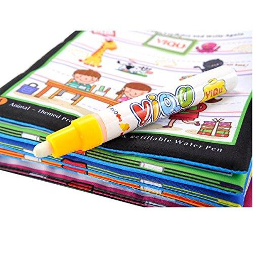 Ruhiku GW Baby Toy, Magic Water Drawing Book, Coloring Book Doodle Magic Pen Animals Painting(Age 2+)
