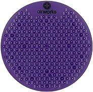 "AirWorks AWSFUS234-BX Splash Free Urinal Screen, Vineyard, 0.22 lb, 8"" Height, 6"" Width, Purple (P"