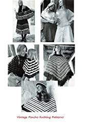 Vintage Knitted Poncho Patterns - Knitting Patterns for Women's Ponchos, Poncho Skirt, Mother and Daughter Poncho and More.
