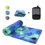 WeYingLe Yoga Mat Towel Non Slip Hot Yoga Towel,Sweat Absorbent, for Hot Yoga, Bikram, Pilates