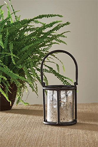 Park Designs Brown Burl 10.5 Inches Height x 5 Inches Diameter Aluminum Cylinder Decorative Candle Lanterns