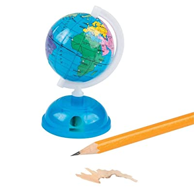 Fun Express Globe Pencil SHARPENERS - Stationery - 12 Pieces: Toys & Games