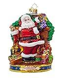 Christopher Radko Glass Straight to Work Santa Christmas Ornament #1017974 by Christopher Radko
