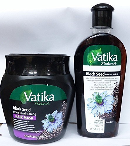 VATIKA NATURALS BLACK SEED ENRICHED HAIR OIL 200ml & DEEP CONDITIONING HAIR MASK 500gm**DEAL** by Vatika
