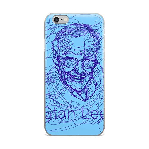 iPhone 6 Plus/6s Plus Case Anti-Scratch Motion Picture Transparent Cases Cover Stan Lee was an American Comic Book Writer Editor and Movies Video Film Crystal Clear